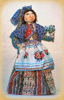 Blue Gypsy, a doll by Patti LaValley