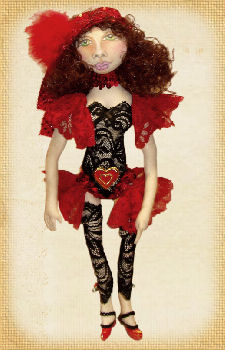 Lady in Red, a doll by Patti LaValley
