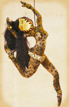 Leopard Dancer, a doll by Patti LaValley