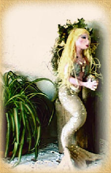Mermaid Miranda, a doll by Patti LaValley
