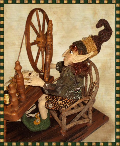 Rumpelstiltskin, a doll by Patti LaValley