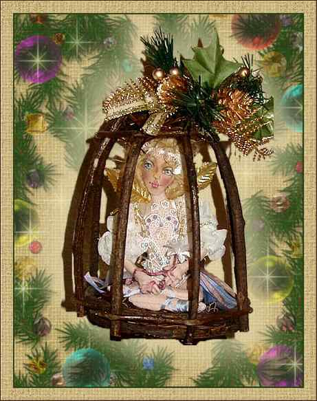 Caged Fairy, a holiday doll by Patti LaValley
